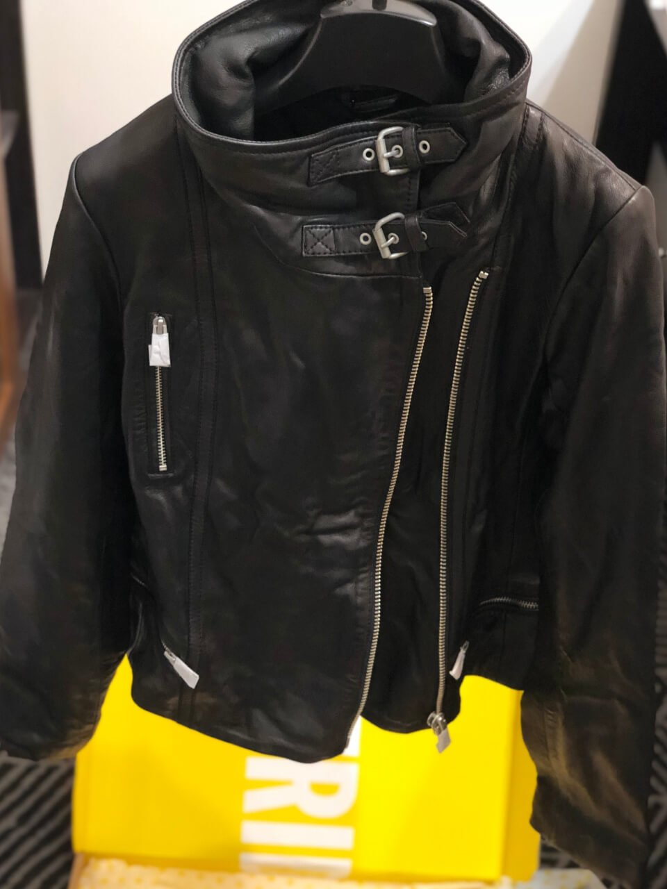 SELFRIDGES開箱:ALLSAINTS皮衣BALES LEATHER BIKER JACKET