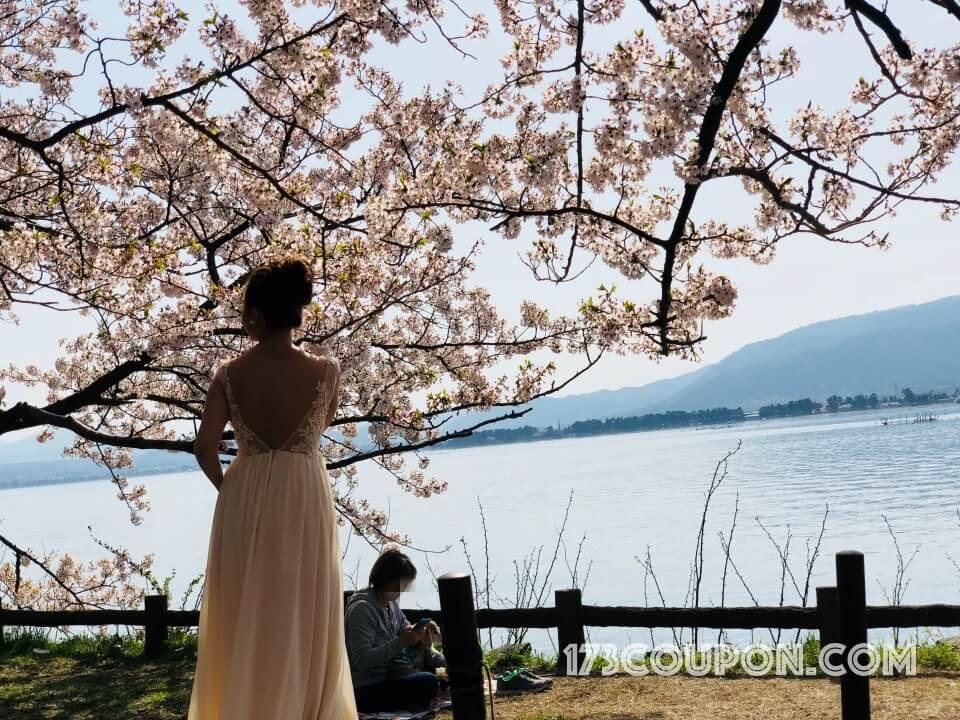 海津大崎賞櫻名所是婚妙取景的好去處