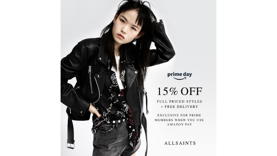 【Amazon Prime Day】AllSaints獨家優惠 原價商品限時85折+免運費