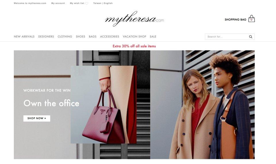 mytheresa網站首頁