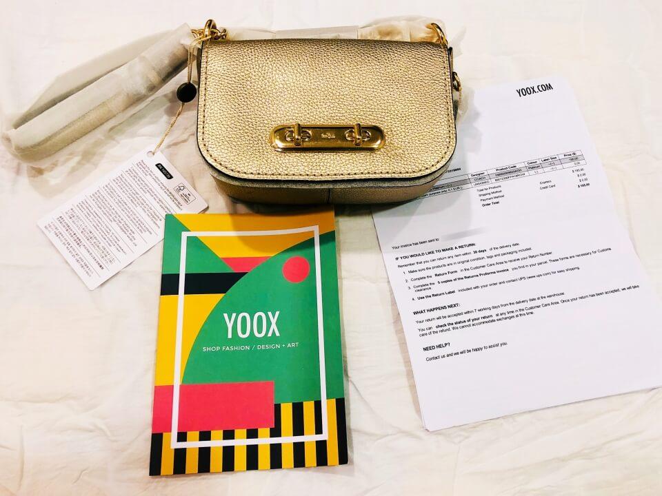 YOOX 開箱COACH Swagger 20 Shoulder Bag 鉑金色包及內附文件