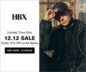 hbx 1212購物節 雙12優惠活動全館額外88折