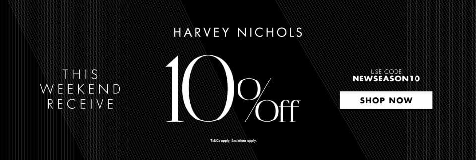 加入Harvey Nichols Rewards會員,可享限時9折